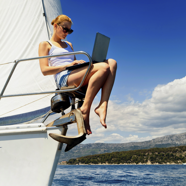 Home Office no barco