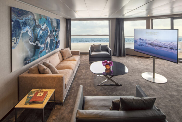 Scenic Eclipse Owners Penthouse Suite Lounge